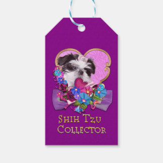 Shih Tzu Collector in Purple Gift Tags