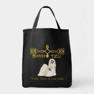 Shih Tzu Customisable Grocery Tote