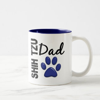 Shih Tzu Dad 2 Two-Tone Mug