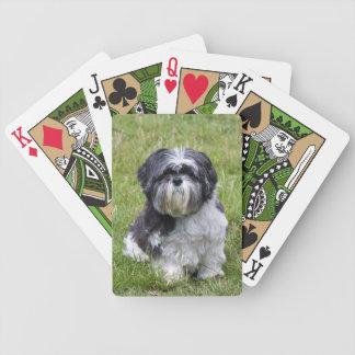Shih Tzu dog beautiful photo portrait, gift Bicycle Playing Cards