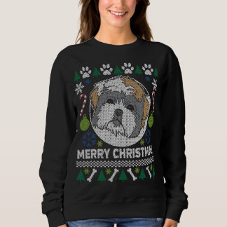 Shih Tzu Dog Breed Ugly Christmas Sweater