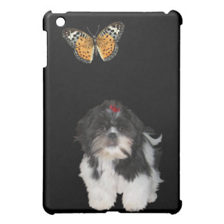 Shih Tzu Dog & Butterfly Cover For The iPad Mini