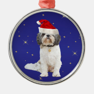 Shih Tzu dog christmas holiday decoration ornament