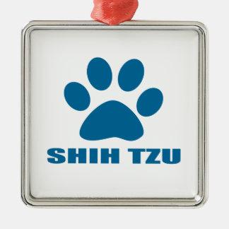 SHIH TZU DOG DESIGNS METAL ORNAMENT