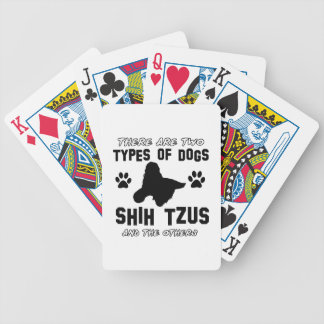 shih tzu dog Designs Poker Deck