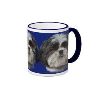 Shih Tzu Dog Mug on Blue