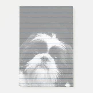 Shih Tzu dog post it notes 4X6 pad
