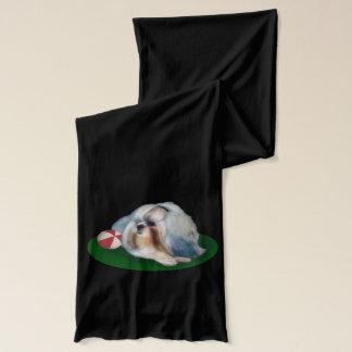 Shih Tzu Dog with Ball Customizable Scarf