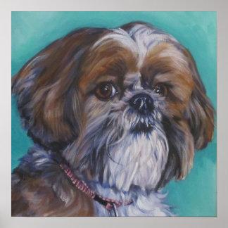 shih tzu fine art dog painting poster