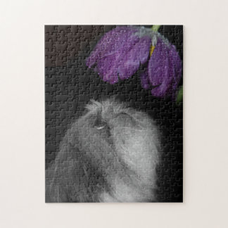 Shih Tzu & Flower Photo Puzzle with Gift Box