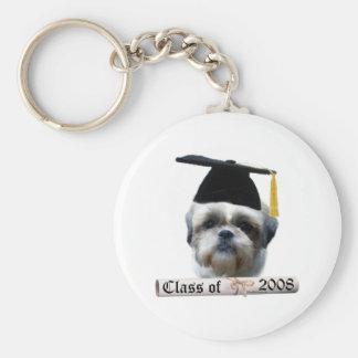 Shih Tzu Grad08 Basic Round Button Key Ring
