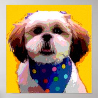 Shih Tzu in Polkadots Canvas Print