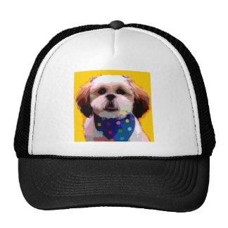 Shih Tzu in Polkadots Mesh Hat