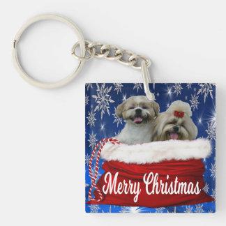 Shih tzu Keychain Christmas