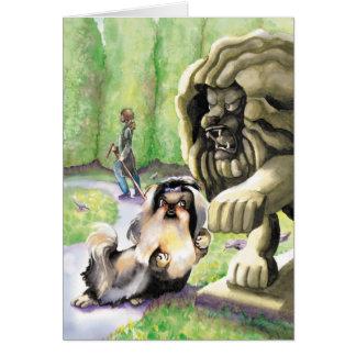Shih Tzu Lion - Congratulations New Job Card