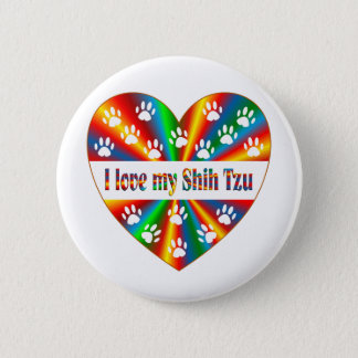 Shih Tzu Love 6 Cm Round Badge