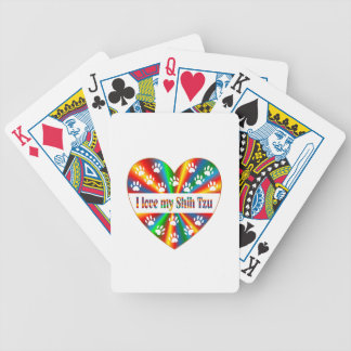 Shih Tzu Love Bicycle Playing Cards