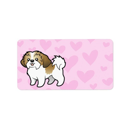 Shih Tzu Love (puppy cut) Address Label