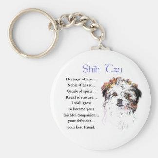 Shih Tzu Lovers Gifts Basic Round Button Key Ring