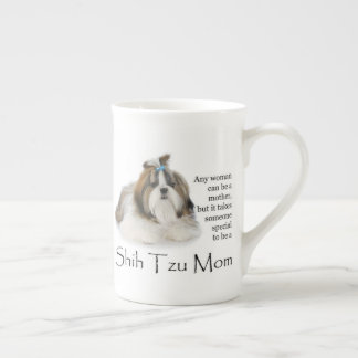 Shih Tzu Mom Bone China Mug