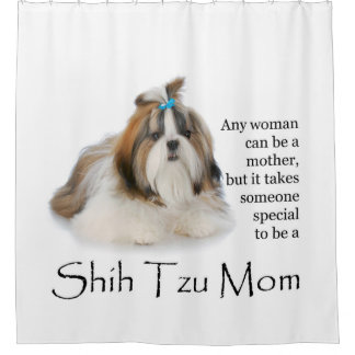 Shih Tzu Mom Shower Curtain