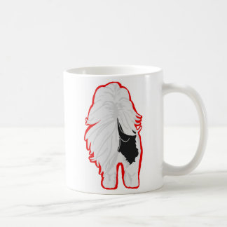 Shih-Tzu Mug Front and Butt, Outlined