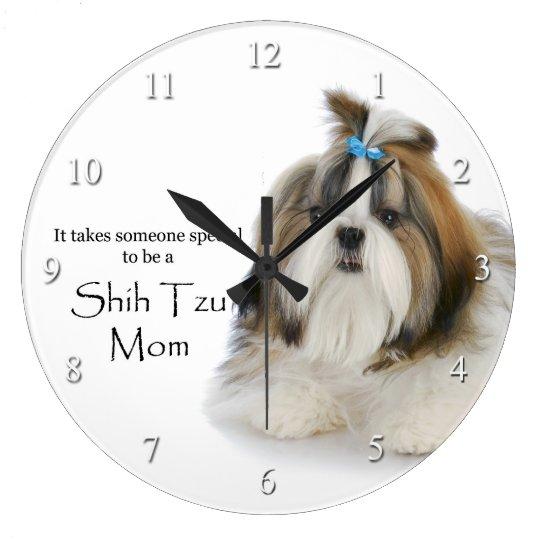 Shih Tzu Mum Clock