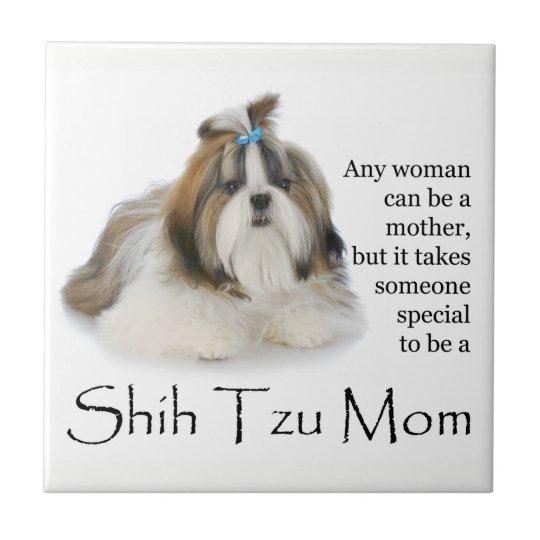Shih Tzu Mum Tile