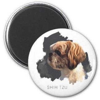 Shih Tzu Original Art Magnet
