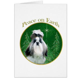 Shih Tzu Peace on Earth Card