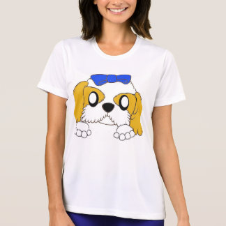 shih tzu peeking gold and white T-Shirt