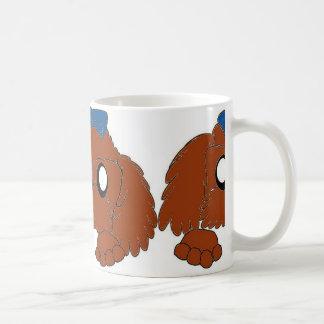 shih tzu peeking red coffee mug