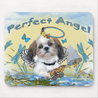 Shih Tzu Perfect Angel Butterfly Catcher cards Mouse Pad