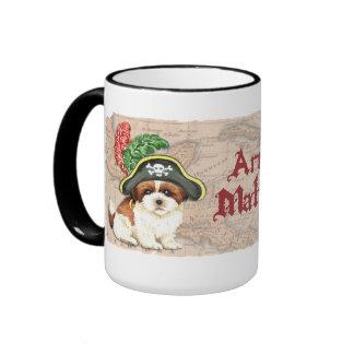 Shih Tzu Pirate Ringer Mug
