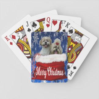 Shih tzu Playing Cards Christmas