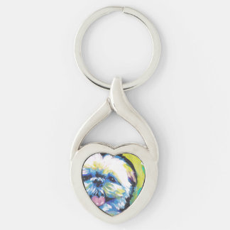 Shih Tzu Pop Art Key Ring