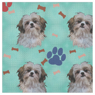 Shih Tzu Portrait Fabric