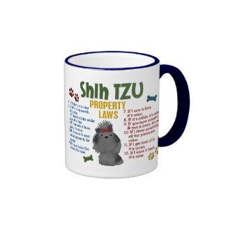Shih Tzu Property Laws 4 Ringer Coffee Mug