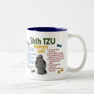 Shih Tzu Property Laws 4 Two-Tone Mug