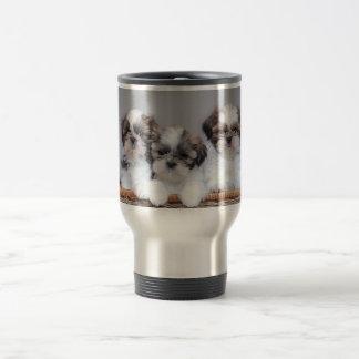 Shih Tzu puppies 15 Oz Stainless Steel Travel Mug