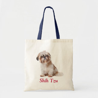 Shih Tzu Puppy Budget Canvas Tote Bag