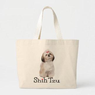 Shih Tzu Puppy Dog Love  Reusable Tote