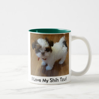 Shih Tzu Puppy Photo Mug Large 15 oz