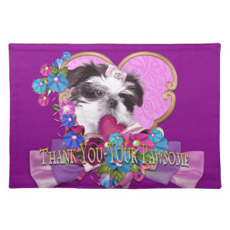 Shih Tzu Puppy Thank You-Your Pawsome Placemat
