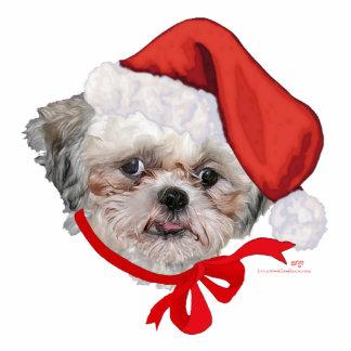 Shih Tzu Rescue Dog Happy Holidays Photo Sculptures