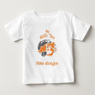 Shih Tzu Rides Shotgun Halloween Costume Baby T-Shirt