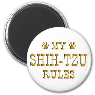 Shih-Tzu Rules Gold Magnet