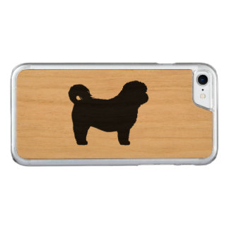 Shih Tzu Silhouette Carved iPhone 8/7 Case