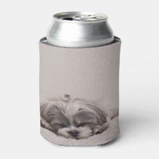 Shih tzu Sleeping Can Cooler, Sleeping Dog Can Cooler