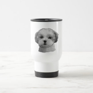 Shih Tzu - Stylized Image - Add Your Qwn Text Stainless Steel Travel Mug